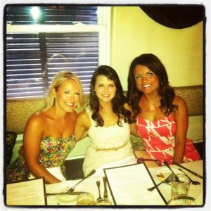 Caitlin on the left and Brit in the middle